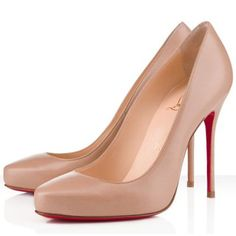 Newest Formal Elisa 100mm Leather Pumps Beige Red Sole Shoes Good-feeling Christian Louboutin Special Offers