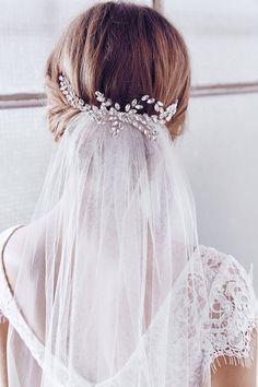 Rhinestone hair comb, bridal hair comb, wedding hair comb, bridal h Hair Comb Wedding, Wedding Hair Pieces, Wedding Veils, 50s Wedding, Wedding Flowers, Wedding Dresses, Drop Veil, Rhinestone Wedding, Crystal Wedding