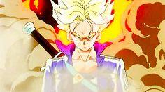 anime fire badass dragon ball z dbz Dragon Ball Z, Fire Dragon, Goku Goes Super Saiyan, Trunks Dbz, Gifs, Cartoon Man, Anime, Animated Gif, Animation