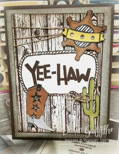 Hi Stampers, Happy Tuesday Friends ! Todays card I used the brand new Yee-Haw Photopolymer stamp...
