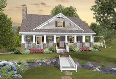 Country Craftsman With Matching Back Porches - 20109GA | 1st Floor Master Suite, CAD Available, Corner Lot, Cottage, Country, Craftsman, Den-Office-Library-Study, PDF, Sloping Lot | Architectural Designs