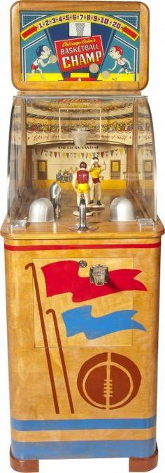 "Chicago Coin Machine Co. ""Basketball Champ"" Electro-Mechanical Machine, c1947."