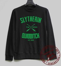 Hey, I found this really awesome Etsy listing at https://www.etsy.com/listing/210661863/slytherin-quidditch-shirt-harry-potter