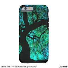Under The Tree in Turquoise Tough iPhone 6 Case #treeoflife #turquoise #tree #magical #wiccan #naturelover