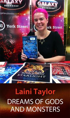 Laini Taylor, author of YA Fantasy, upstairs at GALAXY Bookshop