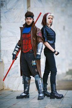 Gambit (Altos) and Rogue (Ryoko-demon) - X-Men, photography by Kifir. Gambit Cosplay, Rogue Cosplay, Male Cosplay, Cosplay Diy, Halloween Cosplay, Best Cosplay, Awesome Cosplay, Anime Cosplay, Cosplay Ideas