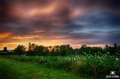 Storm clouds at sunset on July 14 2014 from Raptor Ridge in Greene County Ohio by Jim Crotty
