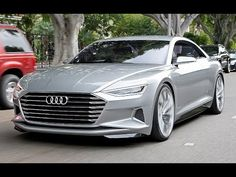 First Drive Audi A9 Concept Prologue - Erste Fahrt im neuen Audi-Design - YouTube