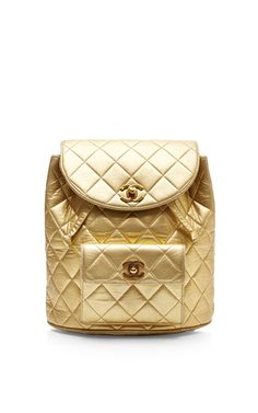 67f1dd86401 Chanel Gold Lambskin Large Back Pack by What Goes Around Comes Around for  Preorder on Moda