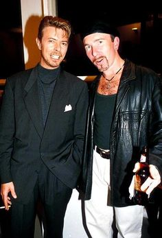 David Bowie and The Edge