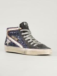 Golden Goose Deluxe Brand 'slide' Glitter Hi-top Sneakers - Penelope - Farfetch.com