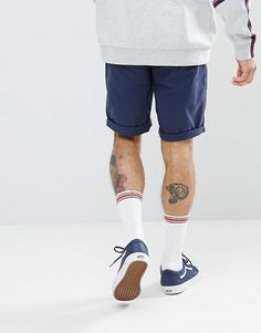 Tommy Jeans | Tommy Jeans Freddy Basic Straight Fit Chino Shorts in Navy