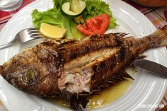 Yum, yum. If you're heading to the Dalmatian coast, you must try some delicious fish fresh, simply cooked on the grill with olive oil.   #korcula #food #explorekorcula