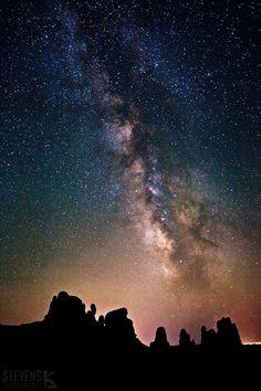 Milky Way over Moab, Utah, USA.