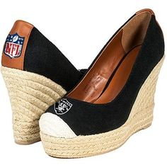 Cuce Shoes Oakland Raiders Women's Wedge Shoes