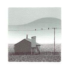 Pebble Island Screeprint, by Jon McNaught