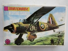 Matchbox PK-7 Westland Lysander WWII Plastic Model Kit 1/72 Scale #Matchbox