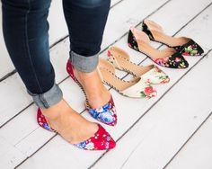 Pippa- 87 Floral Toe Flat