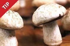 short video of pro techniques for realistic and delicious meringue mushrooms to garnish a yule log cake. www.chow.com