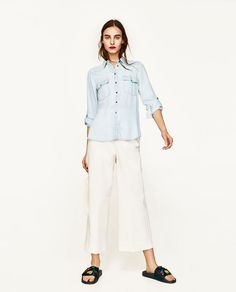 ZARA - WOMAN - FLOWING SHIRT WITH FRUIT EMBROIDERY