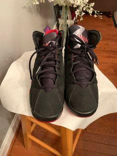 watch 087b5 78c22 Nike Air Jordan VII 7 Retro Black Charcoal Purple Raptors 304774-018 Size  4.5y