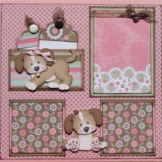 "The Avid Scrapper: ""Puppy Love"" Premade Scrapbook Pages"