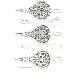 Amrud Acanthus Carving Pattern # 32- Peispuster (Bellows)