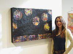 """Art for Coffee's Sake, Encaustic Art, """"Follow Your Leader"""" by Karen Ross"""