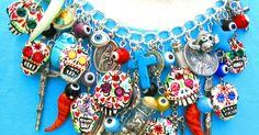 """Leandra Holder Art Blog: Hand Carved """"Sugar Skull"""" Day of The Dead Art Jewellery by Leandra Holder"""