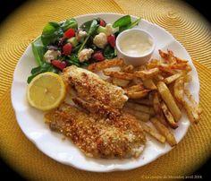 Filets de tilapia panés avec frite santé - Messidor
