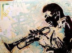 Miles Davis Palette Knife Impasto Painting by Matt Pecson 24x18 MADE TO ORDER Original Oil Painting on Canvas Music Art Urban Art Jazz Art
