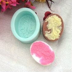 Long-haired beauty Soap Mold Silicone Mould от Creativemouldshop