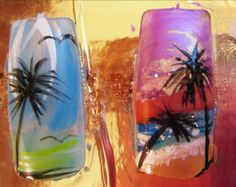 Palm Tree Nail Designs | Home » Nails style photo gallery: Mix nails design » Palm Tree nails