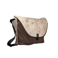Bubbly Cream and Beige on Brown Messenger Bag from Zazzle.com
