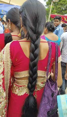 Slick Hairstyles, Long Bob Hairstyles, Indian Hairstyles, Braided Hairstyles, Indian Long Hair Braid, Braids For Long Hair, Braid Hair, Beautiful Braids, Cut My Hair
