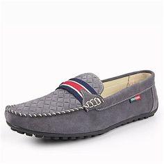 suede talón plana mocasines de punta redonda de los hombres con la conducción de zapatos suaves y cómodos (más colores) – USD $ 49.99