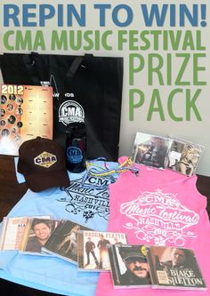 Only ONE week left until the CMA Music Festival! REPIN for your chance to win this CMA gift bag! A winner will be drawn after the Fest - Good luck!