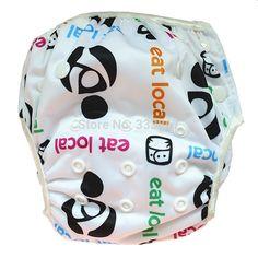 Eat Local Swim Diaper Nappy Pants Adjuatable Reusable Snap Baby Toddler Boy  Girl in Baby, Diapering, Swim Diapers