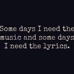 Some days I need both...