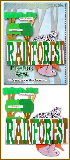 Get ready to teach about The RAINFOREST using this Expository Writing Resource Flip-Flap Book!  This unit is FUN, INTERACTIVE, and ADORABLE when it's completed!$