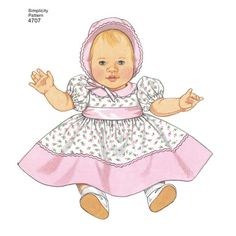 Image result for baby doll clothes patterns