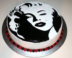 marilyn monroe painted cake!!!