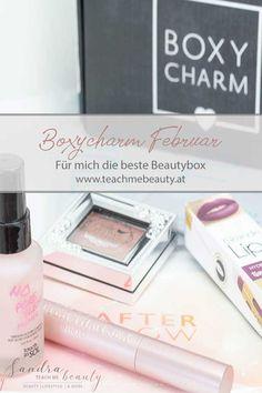 Mein Unboxing der Boxycharm des Monats Februar ist jetzt online. Für mich die beste Beautybox! Mascara, Blog, Teaching, Beauty, Switzerland, Germany, Mascaras, Cosmetology, Education