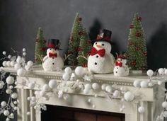Decoraciones navideñas para las chimeneas