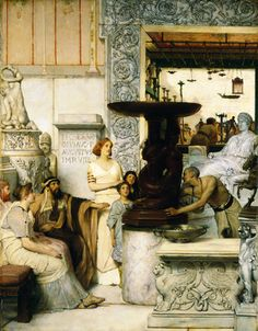 """The Sculpture Gallery""  Sir Lawrence Alma-Tadema  British Painting"