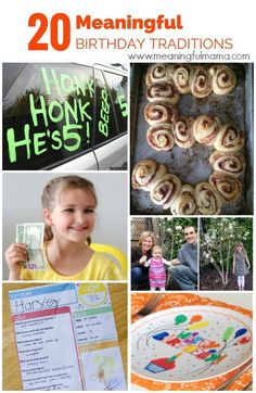 20 Meaningful Birthday Traditions - Birthday Ideas for Kids