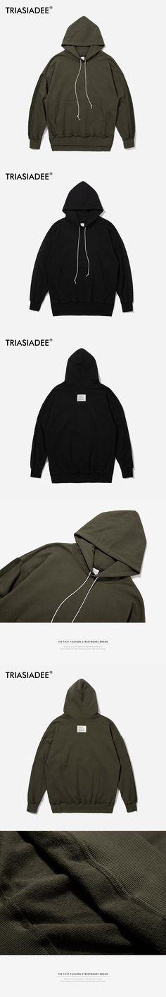 TRIASIADEE Mens Solid Color Cotton Hoodies And Sweatshirts Moda Hombre 2017 Casual Moletom Capuz