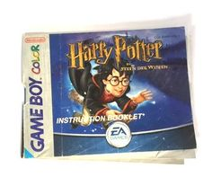 GameBoy Color – Harry Potter en de steen der wijzen (Dutch Manual)  Nintendo  Manuals & Inserts www.detoyboys.nl