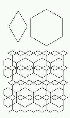 7 inch hexagon pattern. Use the printable outline for