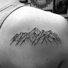 "646 Likes, 2 Comments - Lucky's Tattoo and Piercing (@luckysnoho) on Instagram: ""A little Mountain range tattooed by @rae.love #luckysnoho #northamptonma # mountains…"""